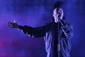 POMONA, CA - AUGUST 01: Singer The Weeknd performs during the HARD Summer Music Festival at Fairplex on August 1, 2015 in Pomona, California. (Photo by Chelsea Lauren/WireImage)