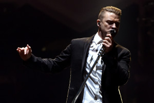 LOS ANGELES, CA - AUGUST 12: Justin Timberlake performs onstage during The 20/20 Experience World Tour at Staples Center on August 12, 2014 in Los Angeles, California. (Photo by Kevin Winter/Getty Images for JT)