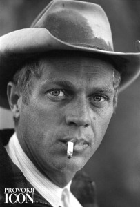 Close-up of American actor Steve McQueen (1930 - 1980) as he smokes a cigarette while on a camping trip in the Sierra Madre Mountains, California, May 1963. (Photo by John Dominis/The LIFE Picture Collection/Getty Images)