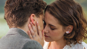 cafe society movie directed by woody allen Jesse Eisenberg and Kristen Stewart kissing