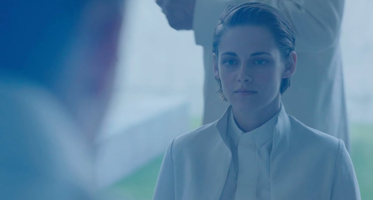 equals movie, Kristen Stewart in white outfit