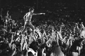 iggy pop and the stooges performing for a large audience