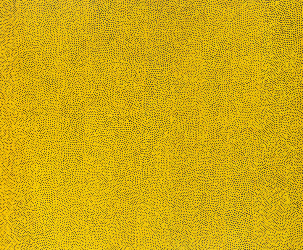 "Yayoi Kusama, ""infinity Nets Yellow,"" (1960), image courtesy of the Hirschhorn Museum"