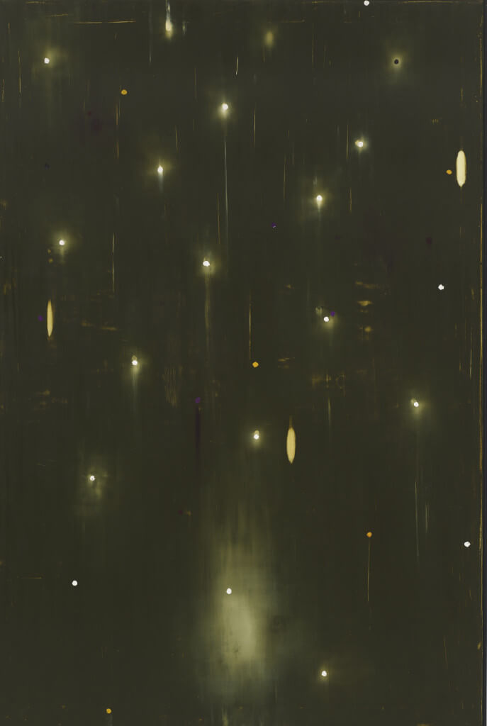 Count No Count (1989) by Ross Bleckner. Oil and wax on canvas 108 × 72 1/8 inches. Purchase with funds from the Painting and Sculpture Committee.