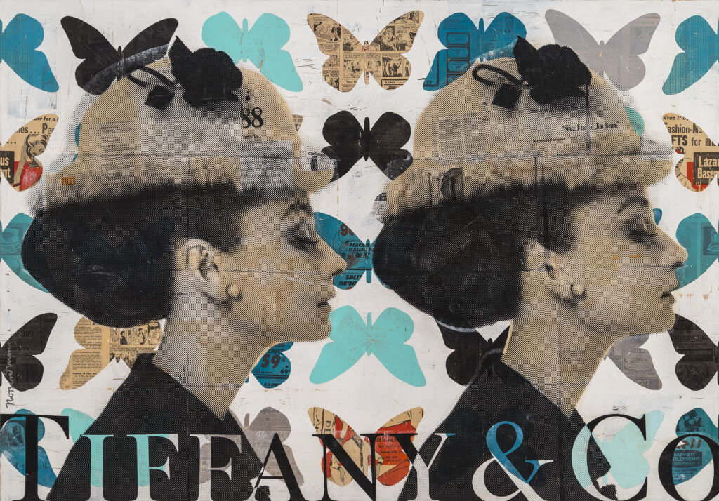 Hearts Alive by Robert Mars. Mixed media on wood panel with epoxy resin, 46 x 66 inches. Courtesy of JoAnne Artman Gallery.