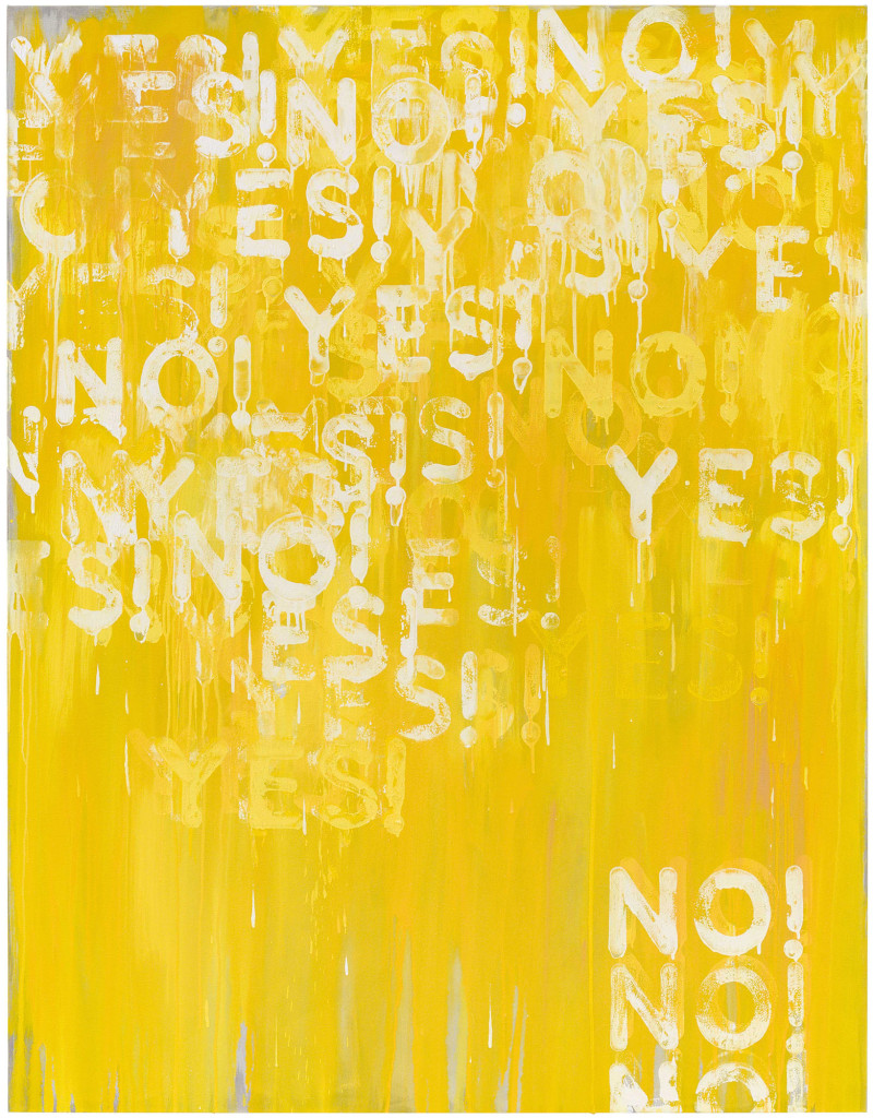 Yes! No! (2016). oil on canvas. 72 x 56 inches.