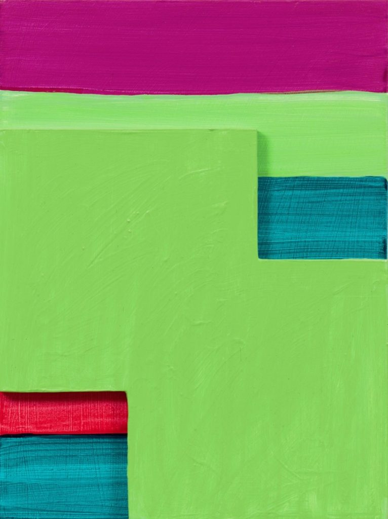 Green Mirage painting by Mary Heilmann