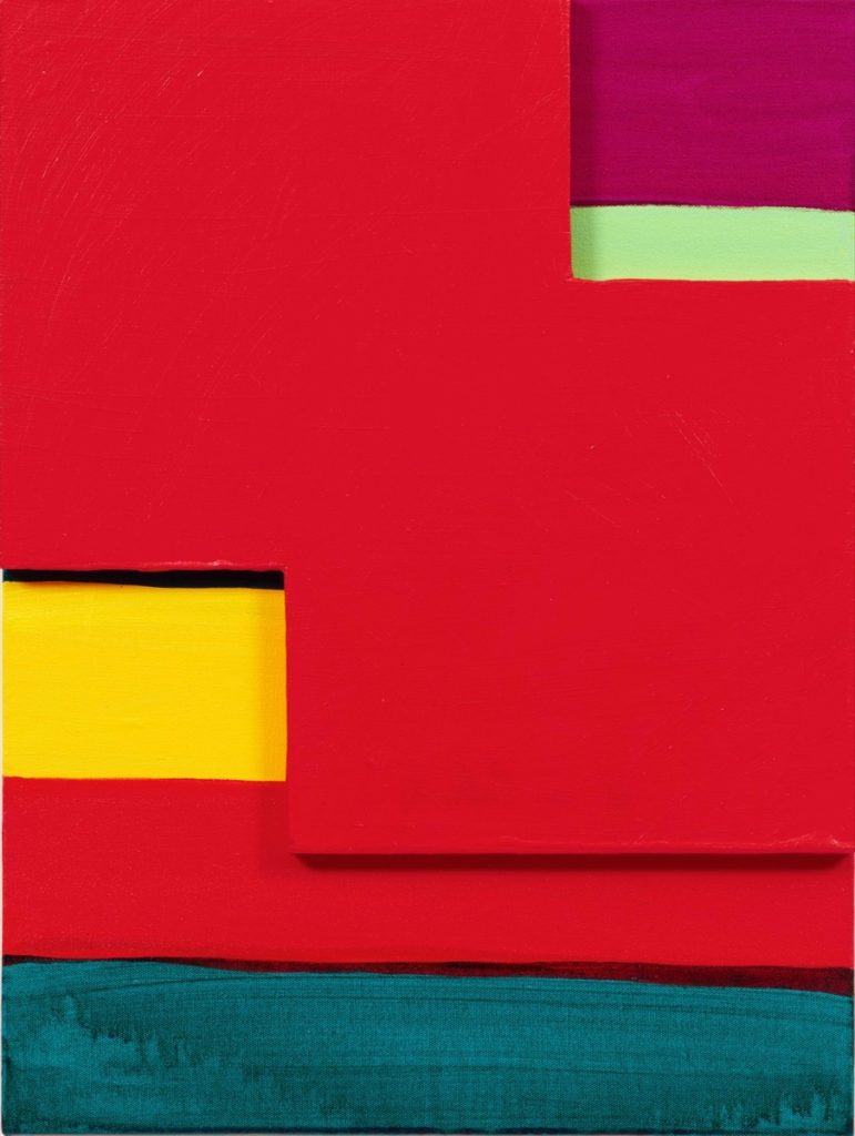 Red Mirage, painting by Mary Heilmann