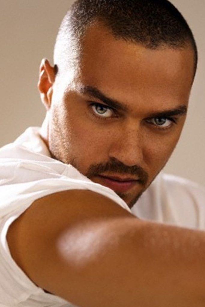 Grey's Anatomy Actor Jesse Williams Wearing a Classic White T-Shirt