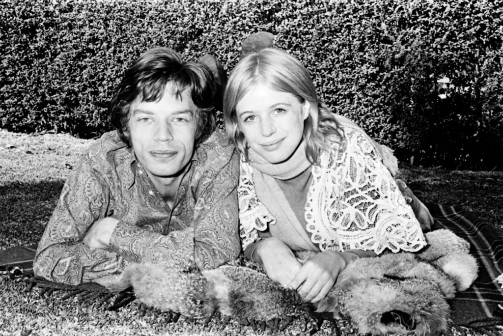 Mick Jagger and Marianne Faithful