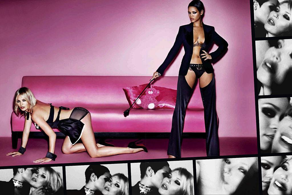 The most provocative and sexy photographs of Rhianna & Kate Moss by Mario Testino