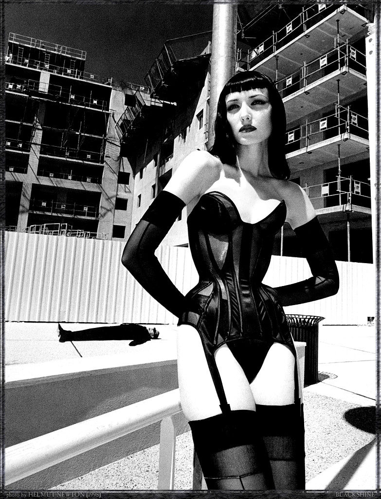 Helmut Newton and Thierry Mugler Black and White S & M Photoshoot