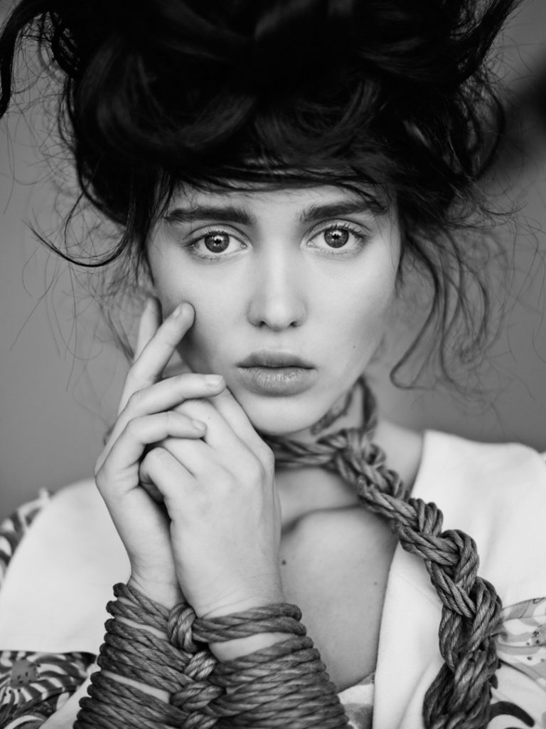 S & M Photograph of a Fashion Model with Noose Around Her Neck by Nicolas Guerin