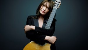 Carla Bruni is touring the USA to promote her latest album-Little French Songs