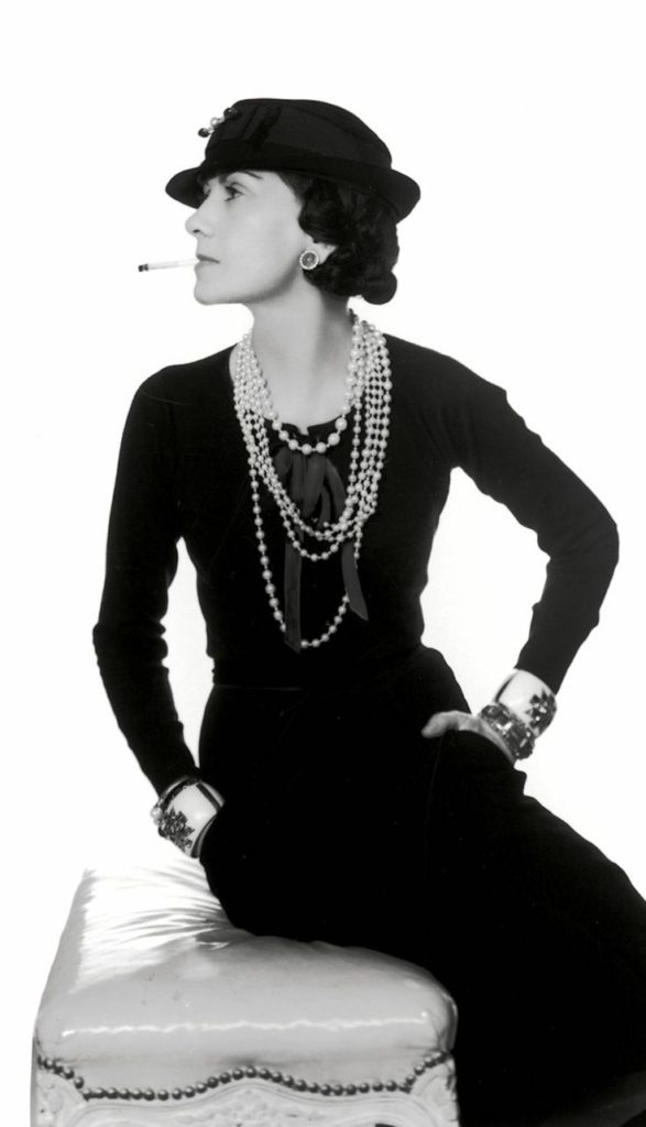 oco Chanel photograph by Many Ray in 1935 wearing Maltese Cross cuffs by Duke Fulco di Verdura.