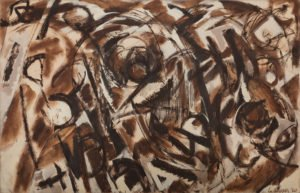 """Seeded"" painting by Lee Krasner"