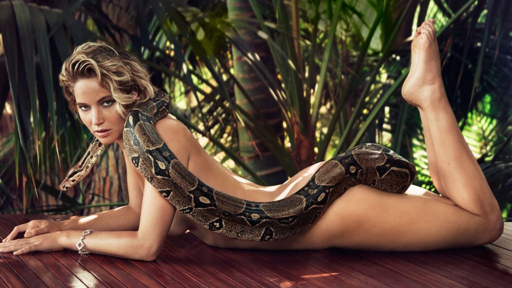 Jennifer Lawrence nude with snake