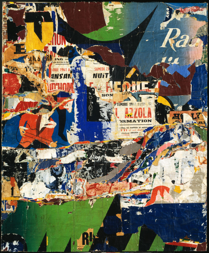 Collage by Jacques Mahé de la Villeglé