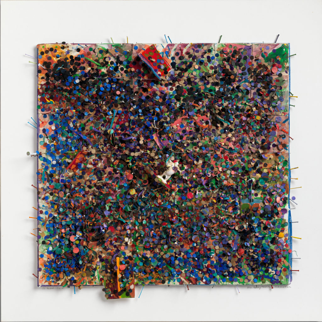 Wall piece by Howardena Pindell