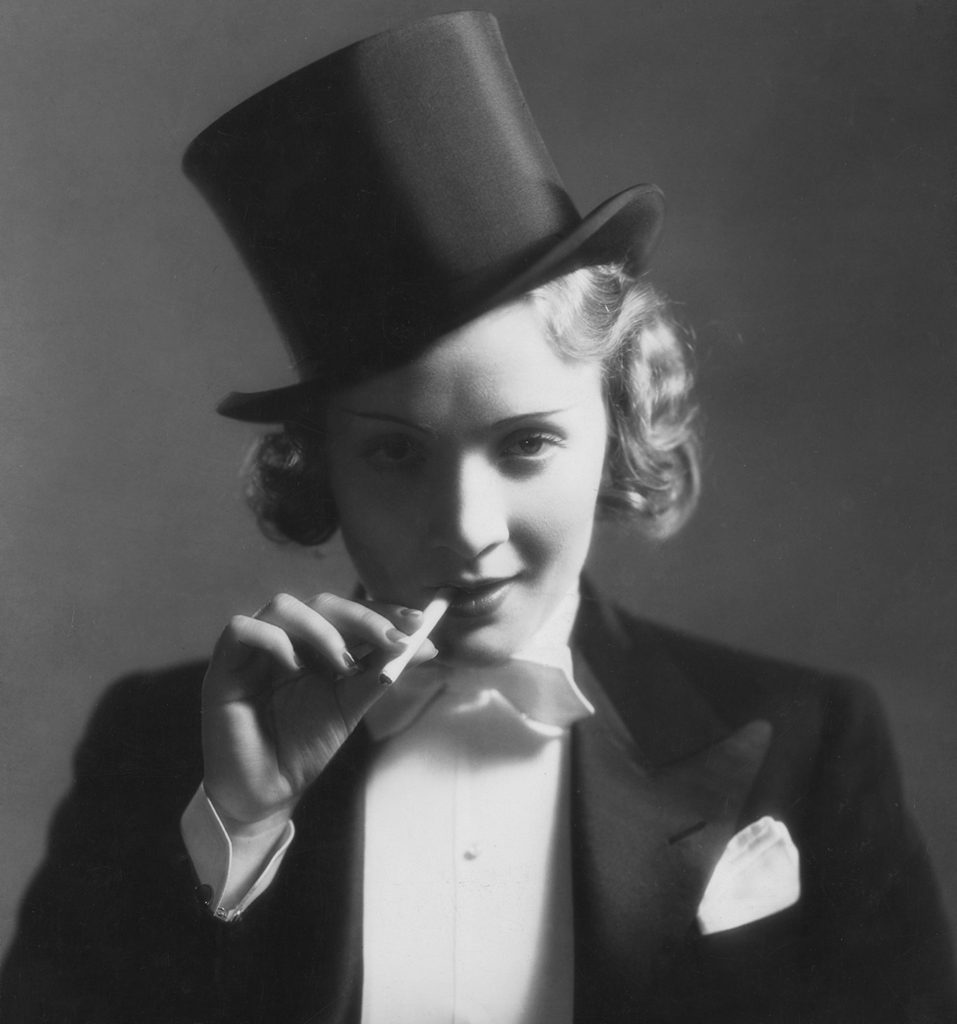 marlene dietrich in top hat