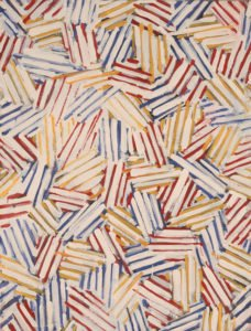 Detail of painting by Jasper Johns