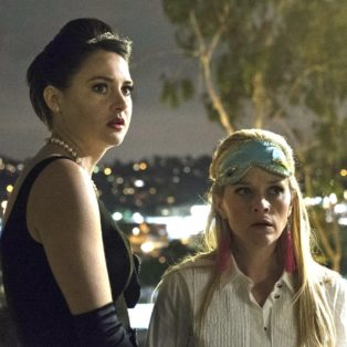 Photograph of Jane played by Shailene Woodley and Madeline played by Reese Witherspoon at the costume party at the end of Big Little Lies, Season
