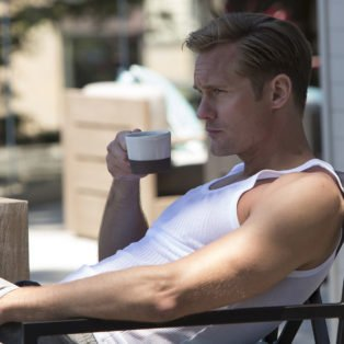 "Alexander Skarsgard as Perry White wearing a wife-beater tank is the sexiest tv villain of the year perfectly embodies the classic ""secret"" abuser: handsome, white, rich, and always on the edge of violent rage."