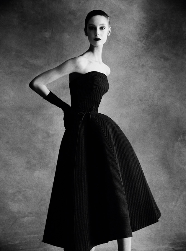 Patrick Demarchelier Christian Dior Sonnet dress, Autumn - Winter 1952 Haute Couture Collection, 2013