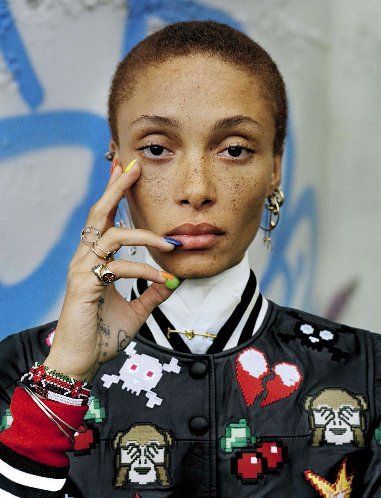 photograph of model adwoa-aboah-vogue-italia
