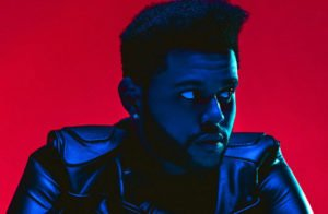 The Weeknd red background