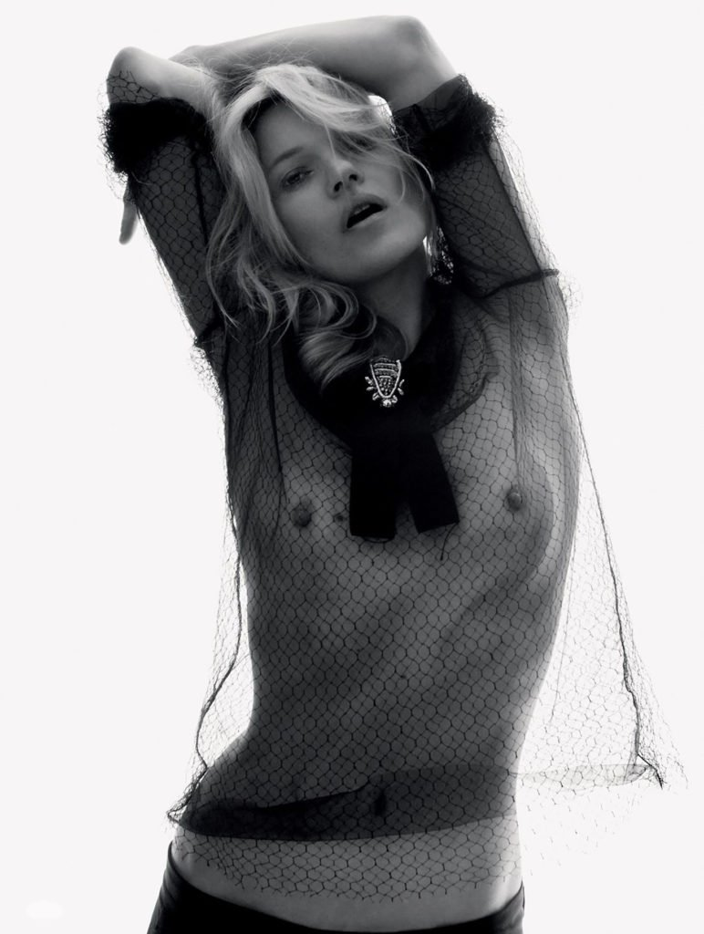 Kate Moss sheer fishnet top
