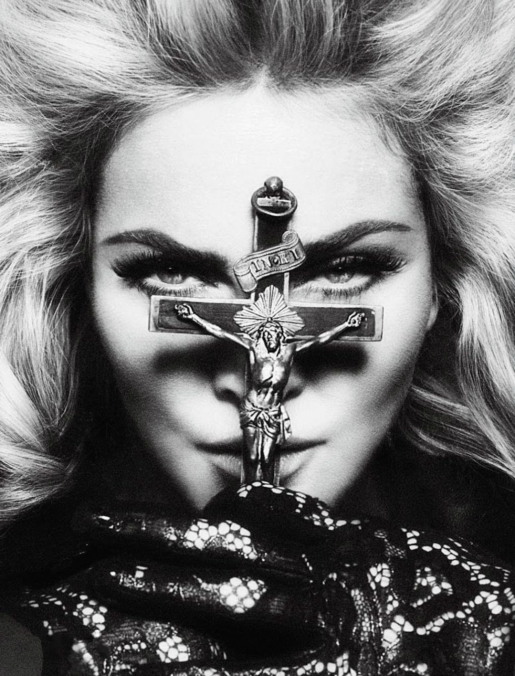 madonna and cross