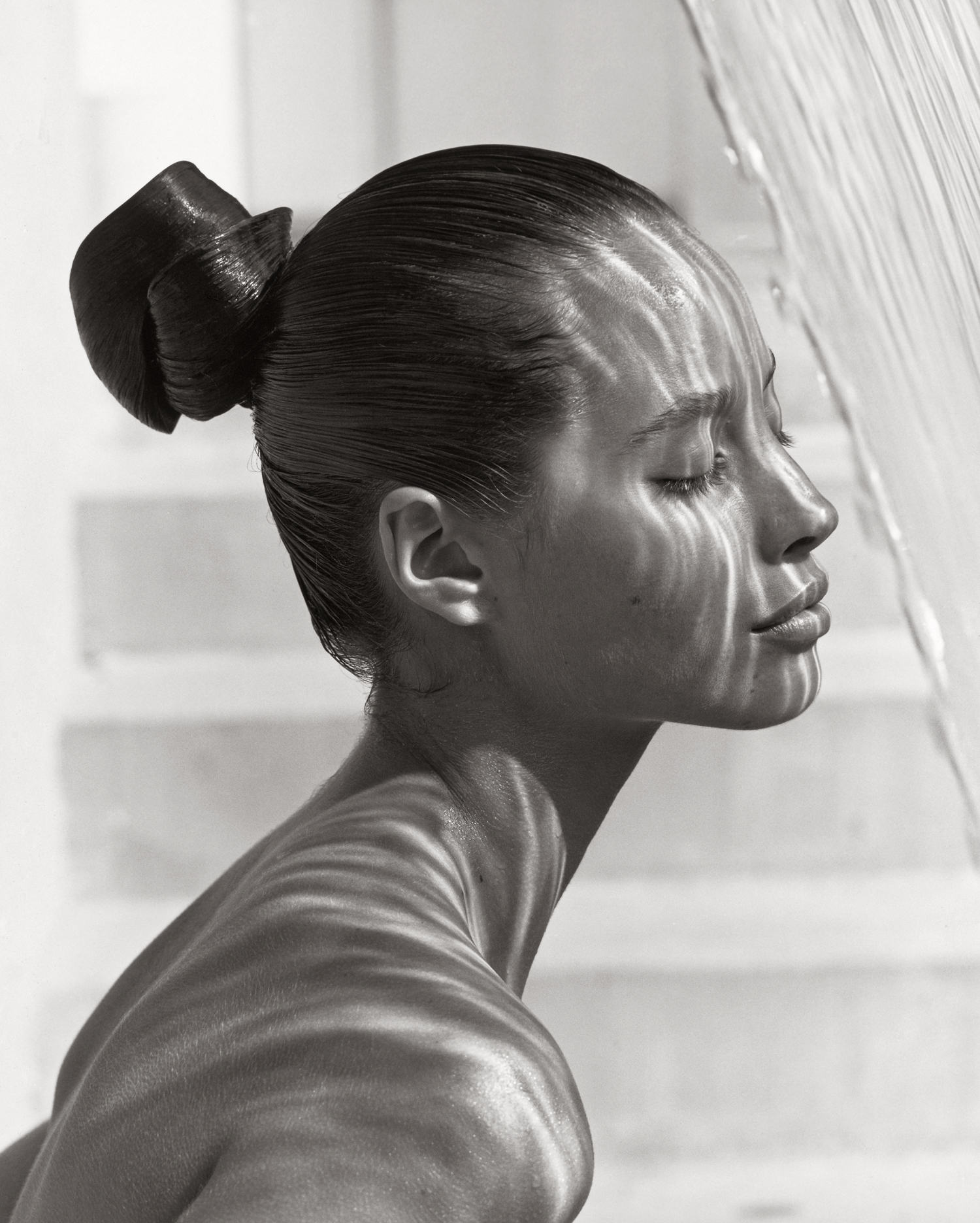 Christy Turlington, Profile, by Herb Ritts