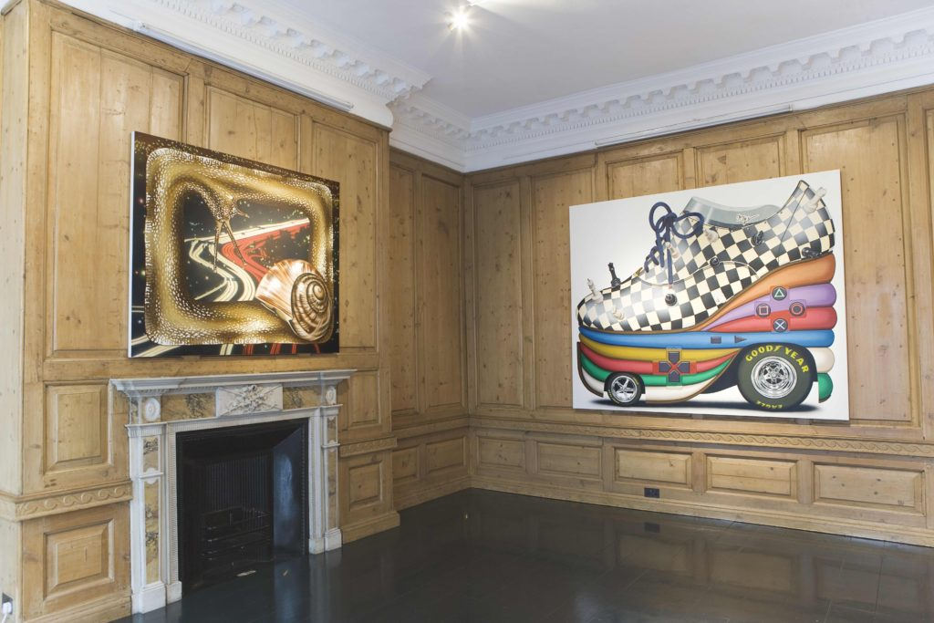 Installation view of Henry Gunderson, Formula One