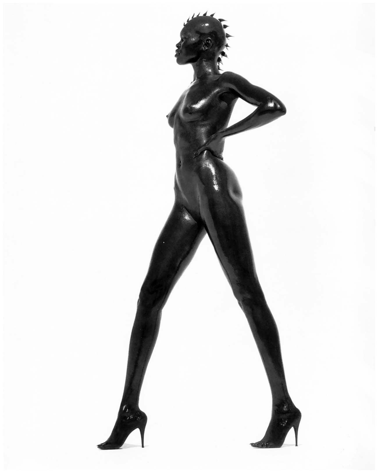 Alek Wek, by Herb Ritts