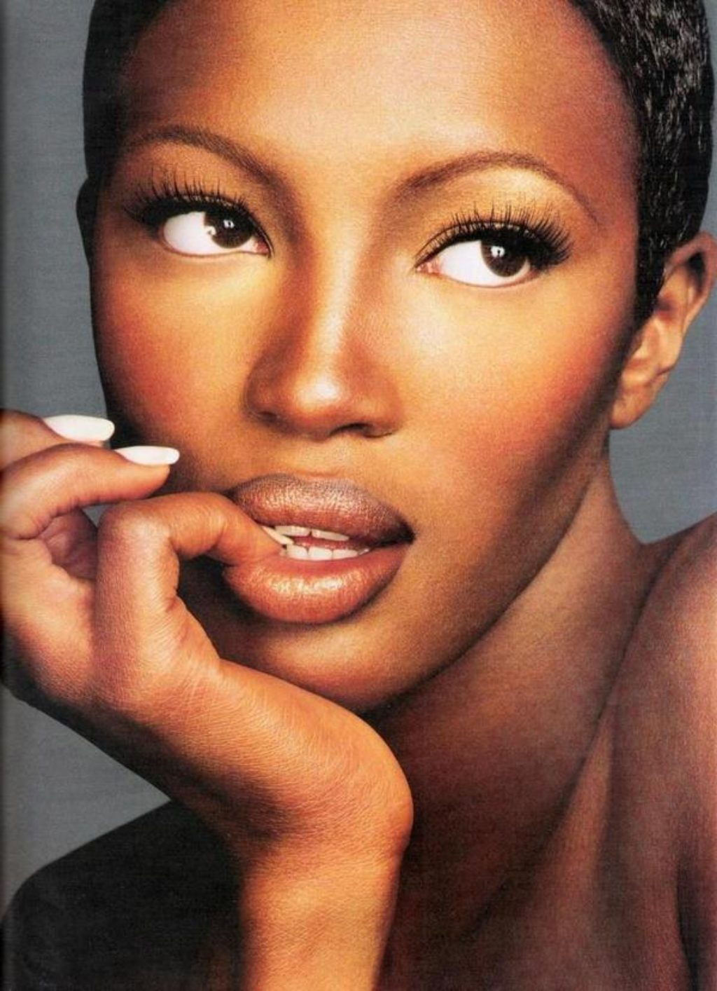 Naomi Campbell portrait with make up by make up artist Kevyn Aucoi
