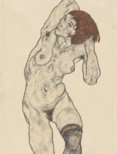 Drawing by Egon Schiele