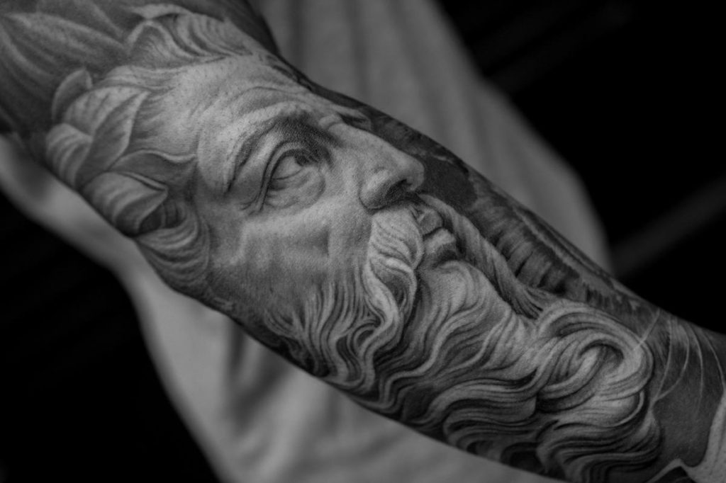 The Most Incredible Tattoo of God By Tattoo Artist Keith McCurdy known as Bang Bang