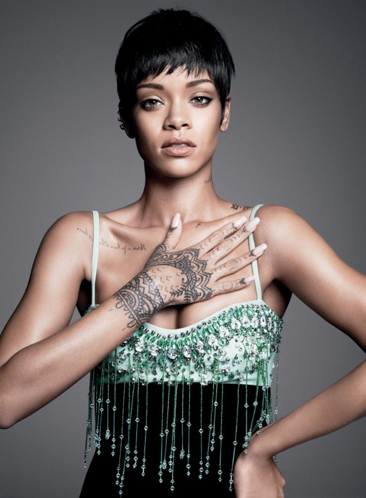 Beautiful Hand Tattoo on Rhianna's Hand by Tattoo Artist Keith McCurdy
