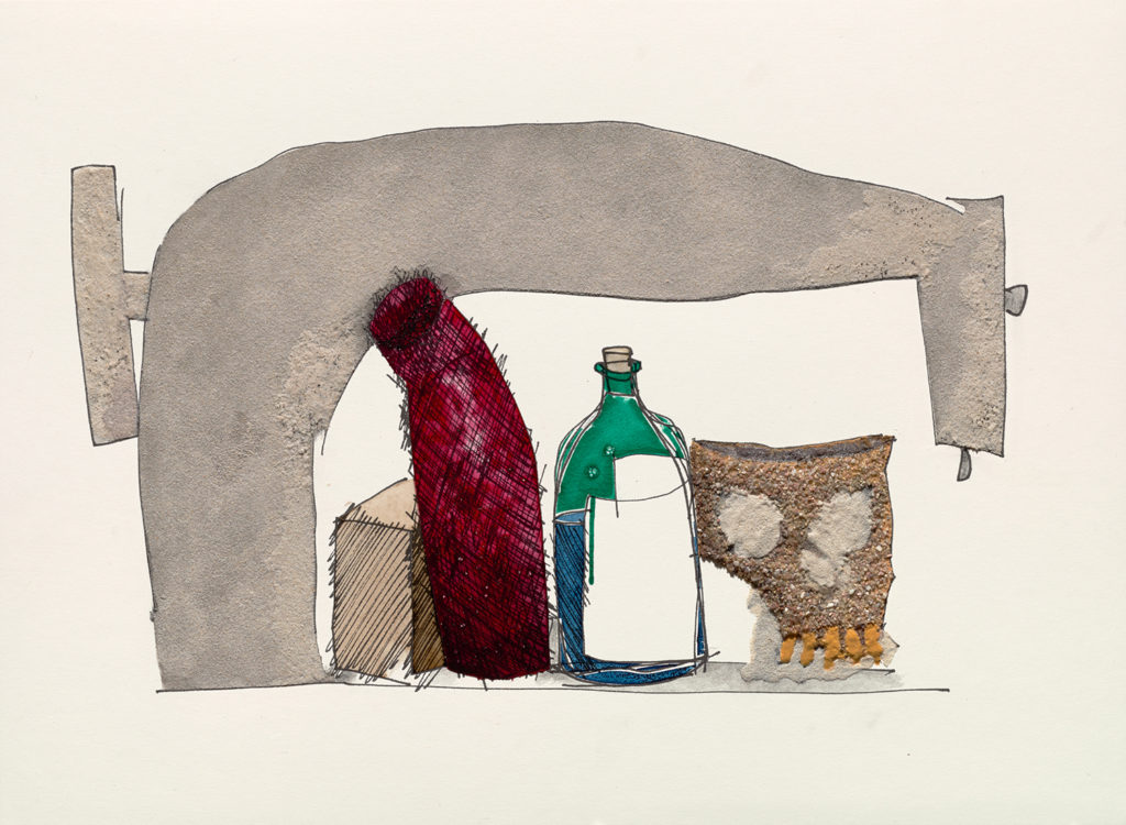 Still Life with Skull, Bottle, and Sewing Machine by Irving Penn