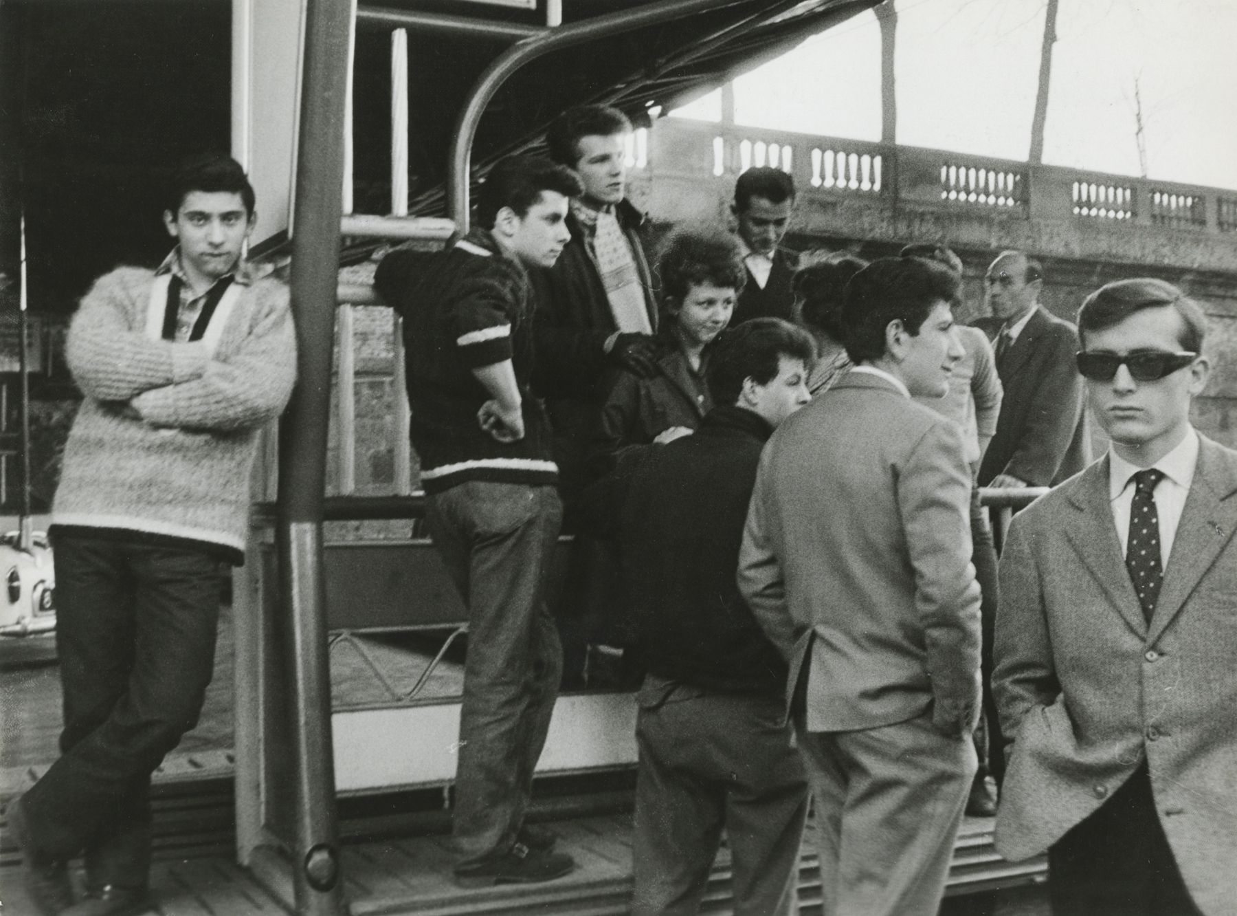 "Enrico Cattaneo. ""Giovani d'Oggi, Milano."" (Youth Of Today, Milan). 1961."