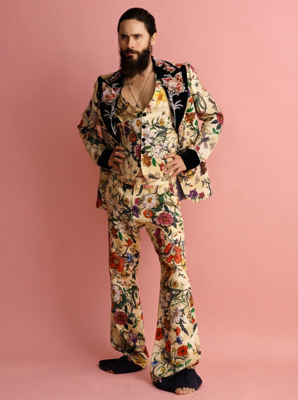 Jarod Leto in Gucci floral suit