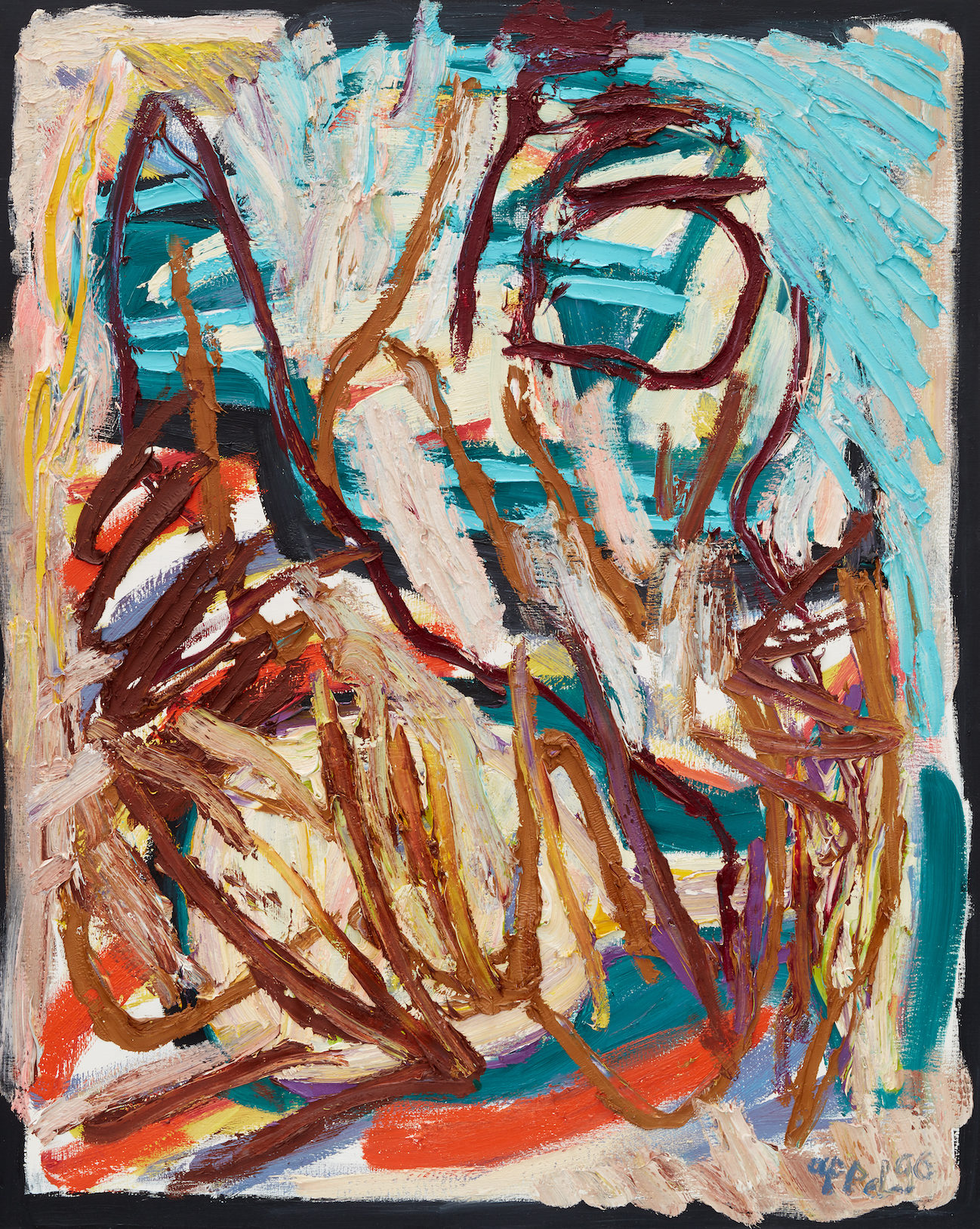 Karel Appel painting out of nature
