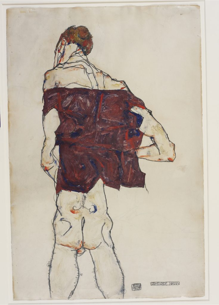 Drawing by Egon Schiele - Standing Man