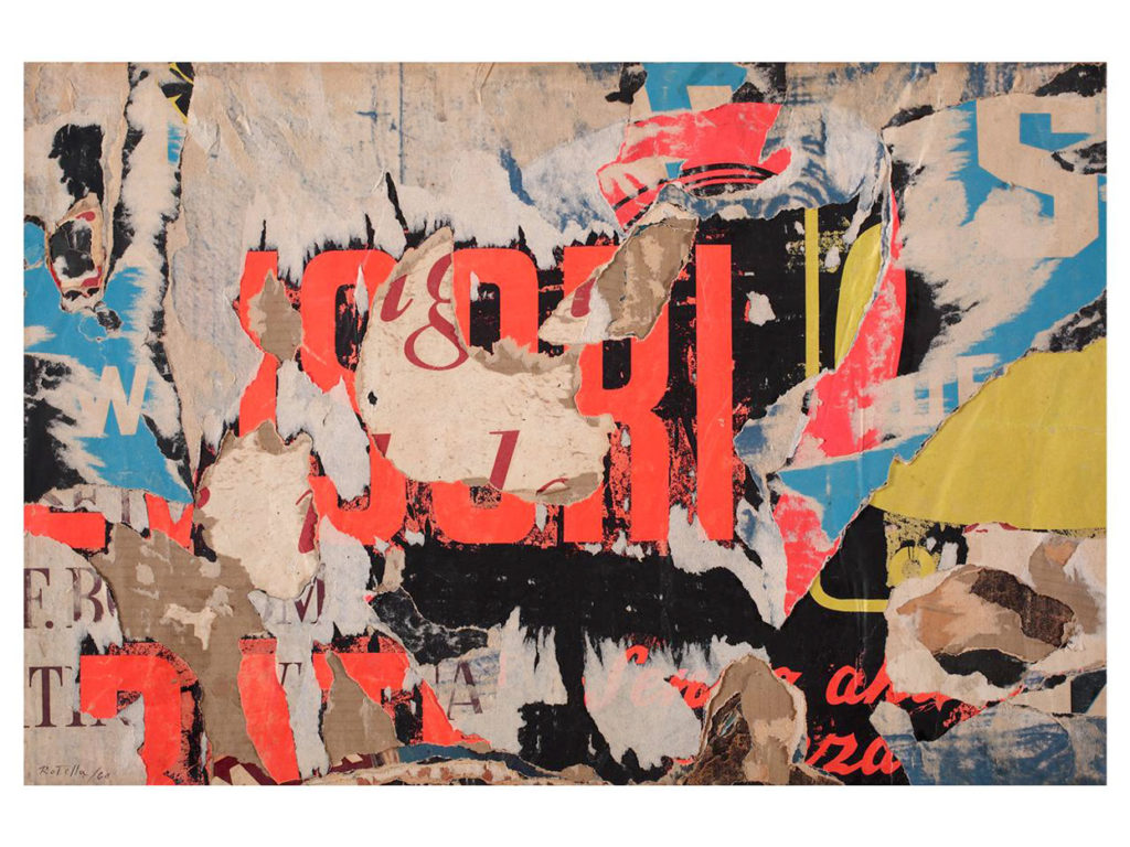 Advertising - Collage by Mimmo Rotella