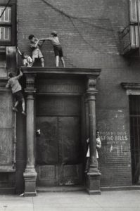 Boys play on rooftop in New York City Helen Levitt