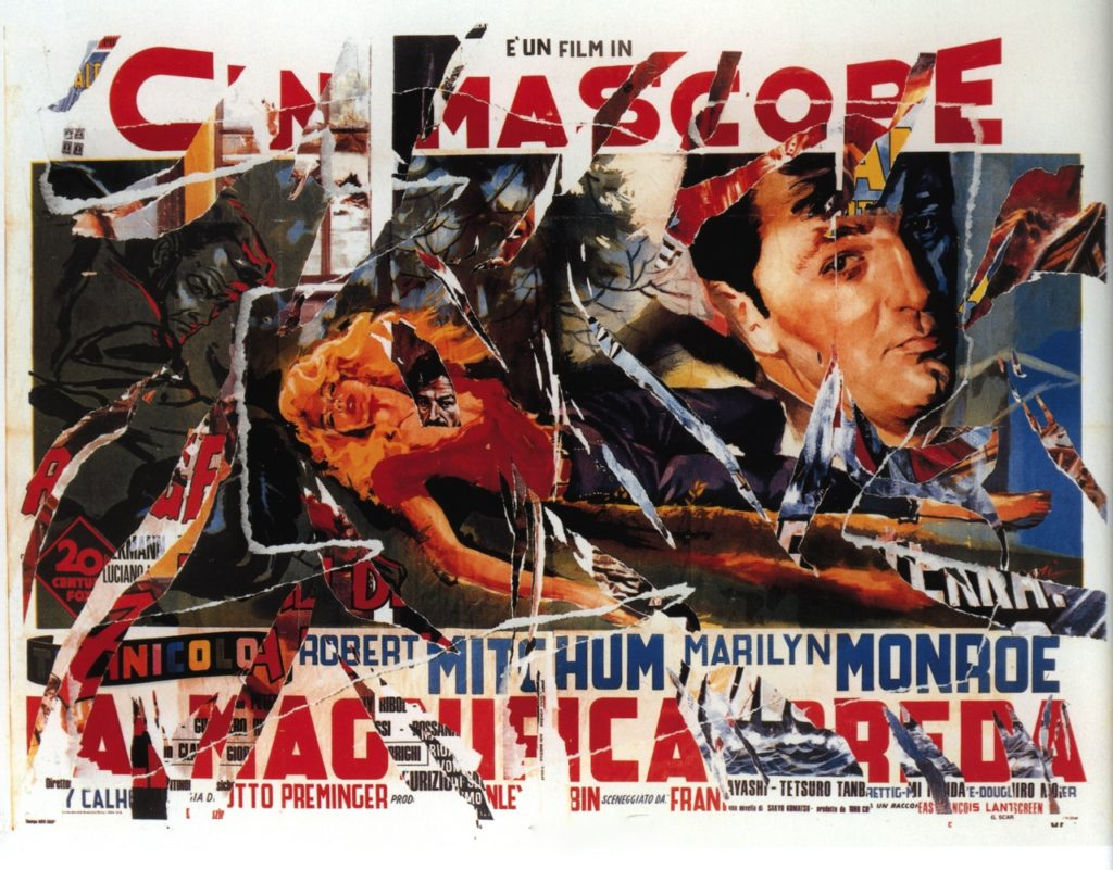 River of No Return - Decollage by Mimmo Rotella