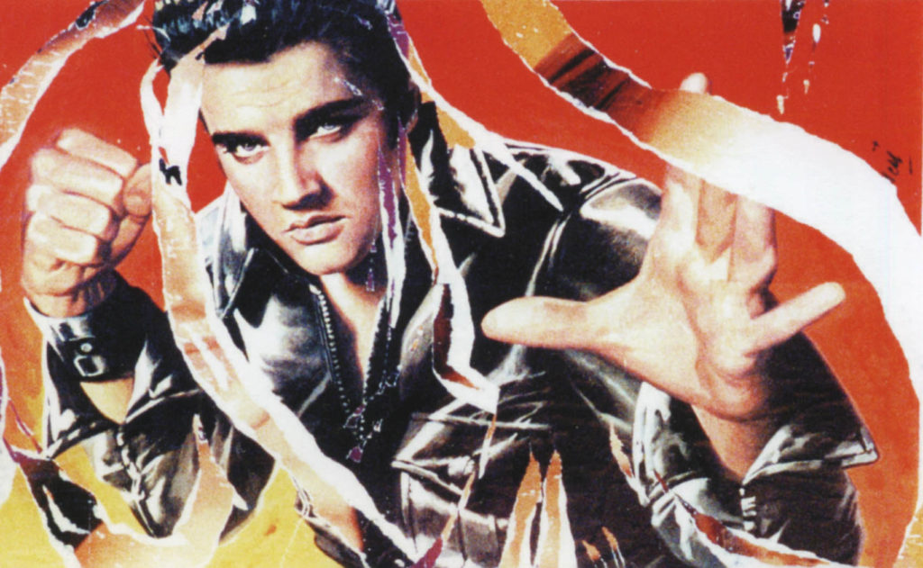 King Creole Elvis Print by Mimmo Rotella