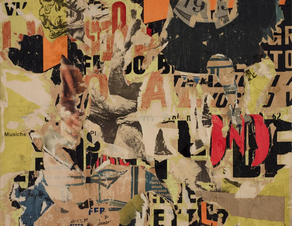 Mythology in Black and Red - Collage by Mimmo Rotella
