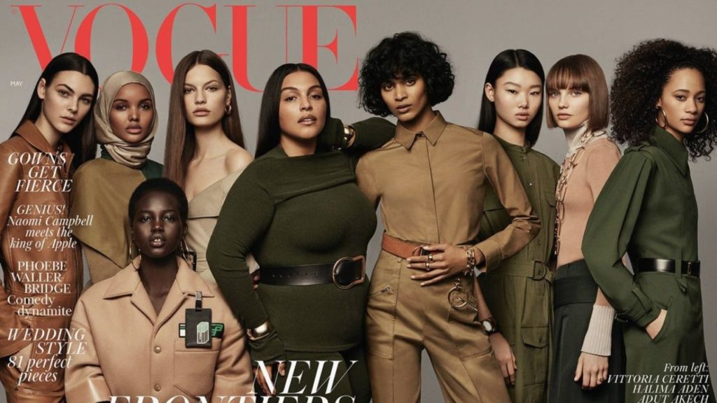 British Vogue cover May 2018 model diversity